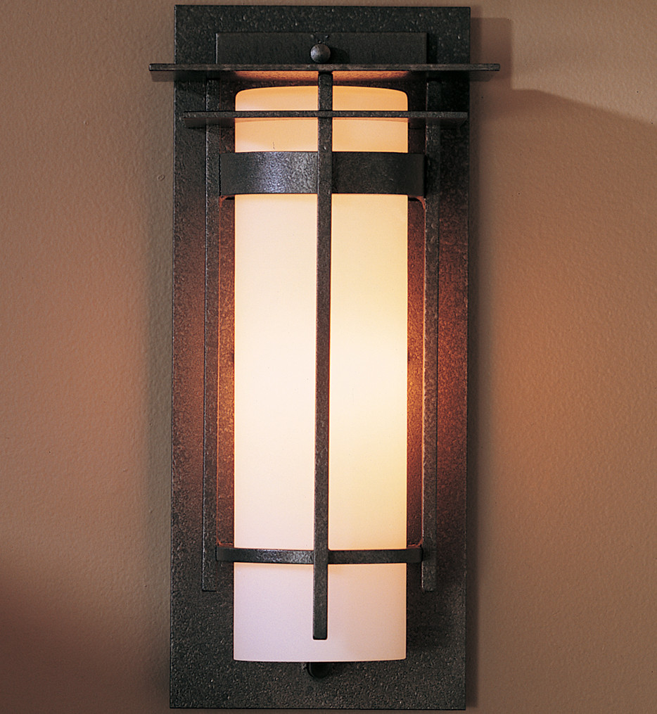 Hubbardton Forge - Banded 12 Inch Outdoor Wall Sconce