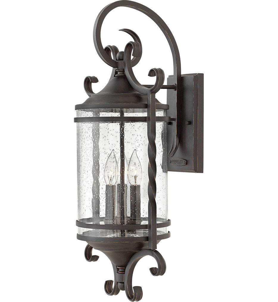 Hinkley Lighting - 1148OL-CL - Casa Olde Black 26 Inch Outdoor Wall Sconce