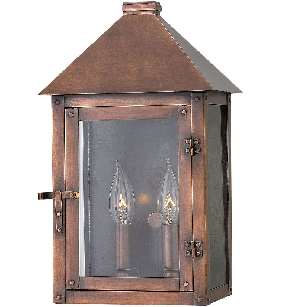 Hinkley Lighting - 18200AP - Thatcher Antique Copper 14 Inch Outdoor Wall Sconce