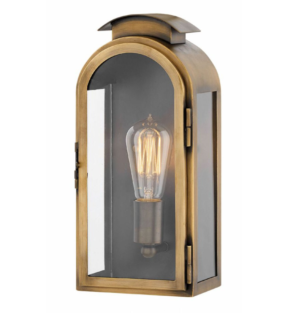 Hinkley Lighting - 2520LS - Rowley Light Antique Brass 13.25 Inch Outdoor Wall Sconce