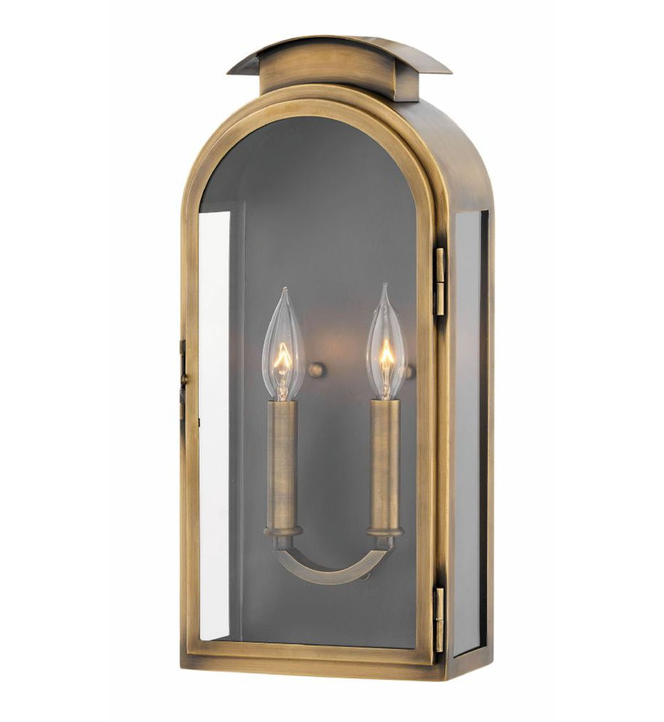 Hinkley Lighting - 2524LS - Rowley Light Antique Brass 18 Inch Outdoor Wall Sconce