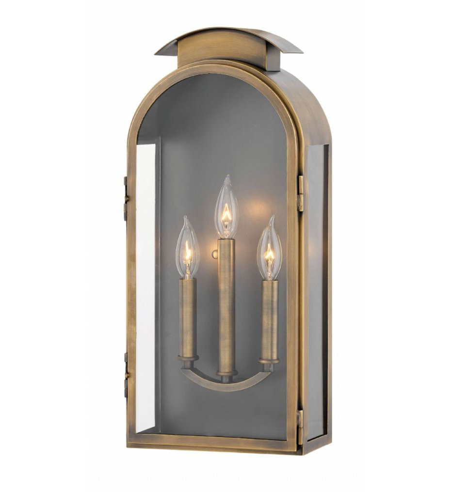 Hinkley Lighting - 2525LS - Rowley Light Antique Brass 21 Inch Outdoor Wall Sconce