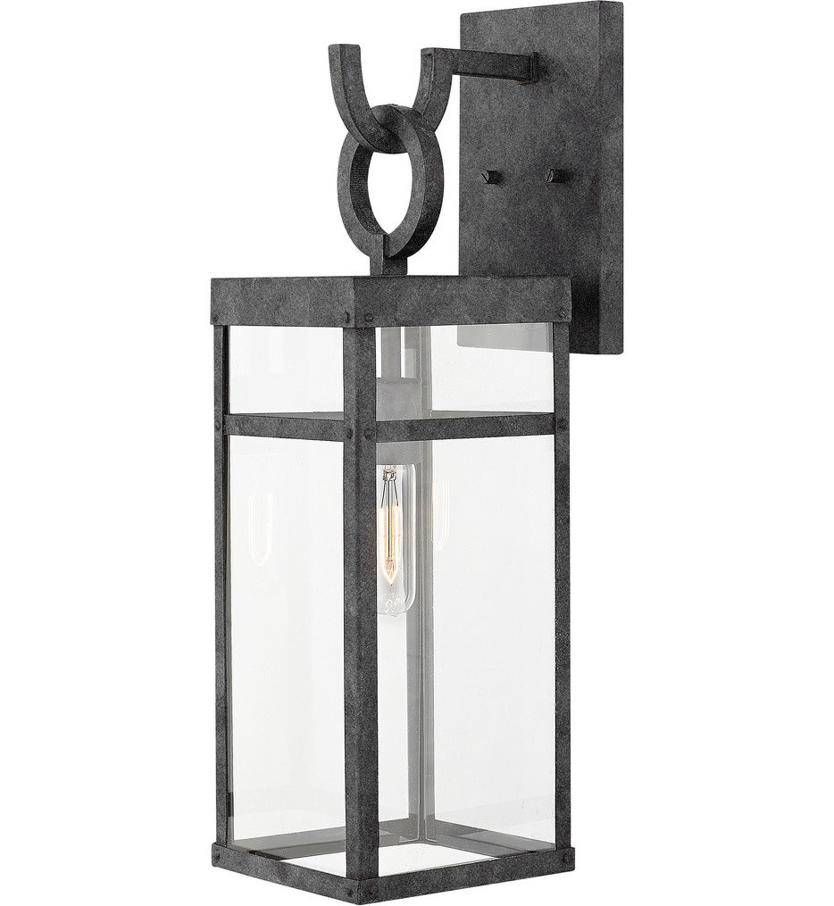 Hinkley Lighting - 2804DZ - Porter Aged Zinc 22 Inch Outdoor Wall Sconce