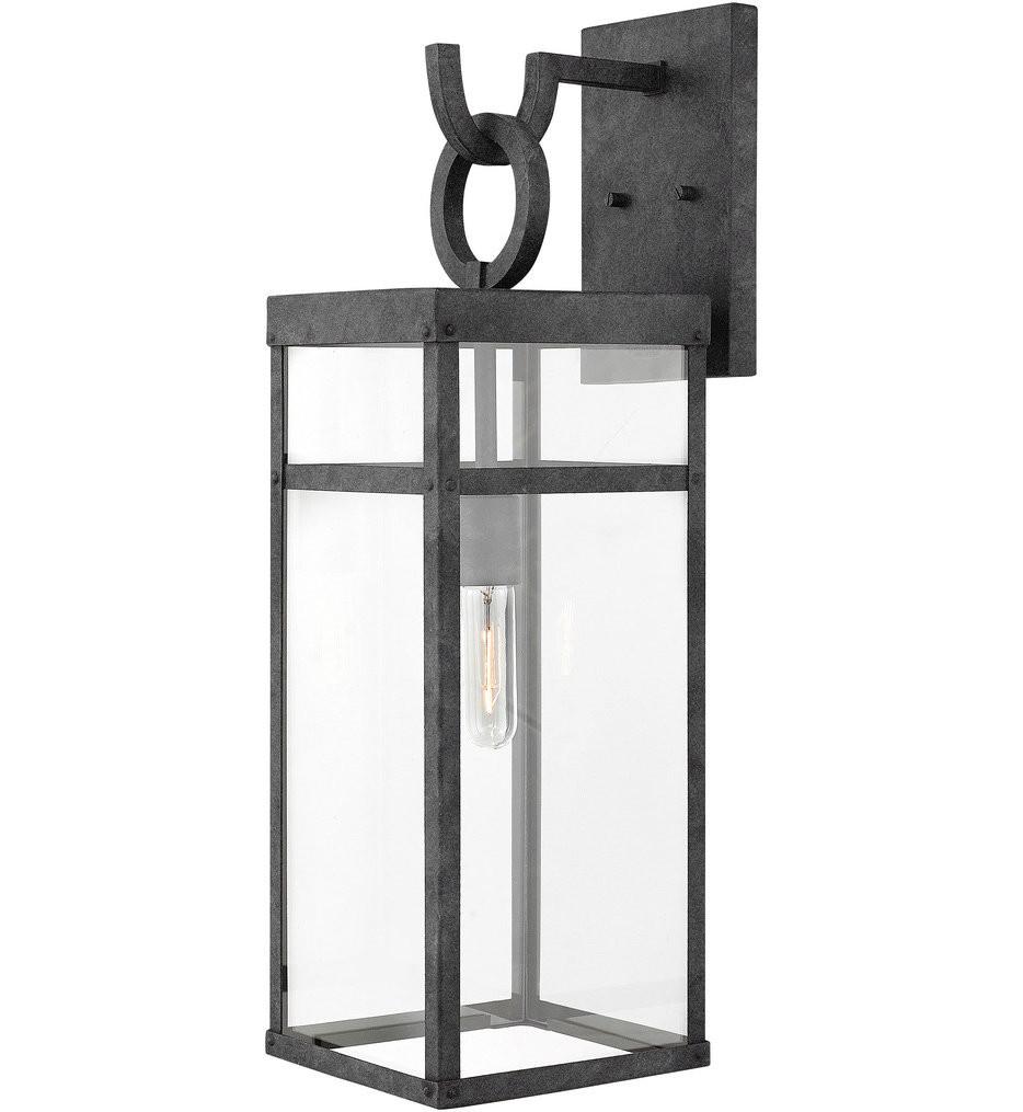 Hinkley Lighting - 2805DZ - Porter Aged Zinc 25 Inch Outdoor Wall Sconce