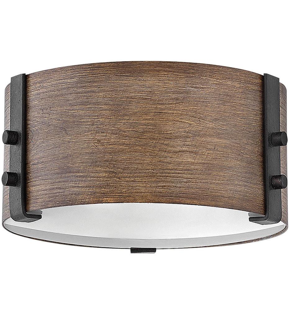 Hinkley Lighting - 29201SQ - Sawyer Sequoia 9 Inch Flush Mount