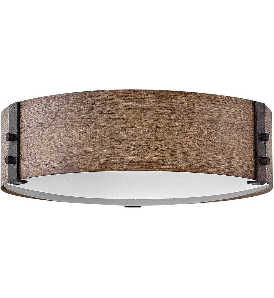 Hinkley Lighting - 29203SQ - Sawyer Sequoia 15 Inch Flush Mount
