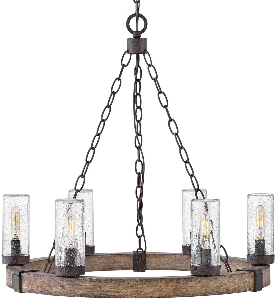Hinkley Lighting - 29206SQ - Sawyer Sequoia 24 Inch Outdoor Chandelier