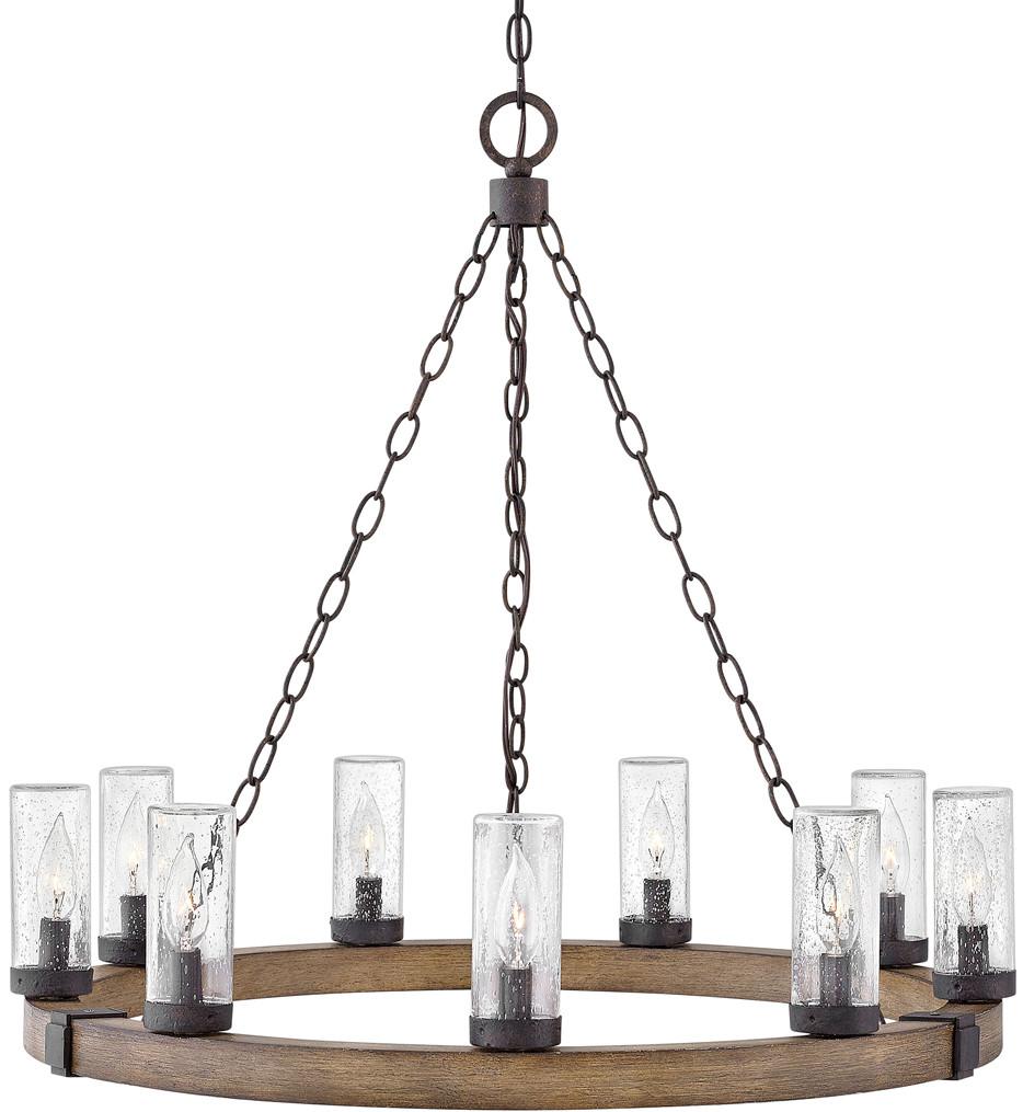 Hinkley Lighting - 29208SQ - Sawyer Sequoia 30 Inch Outdoor Chandelier