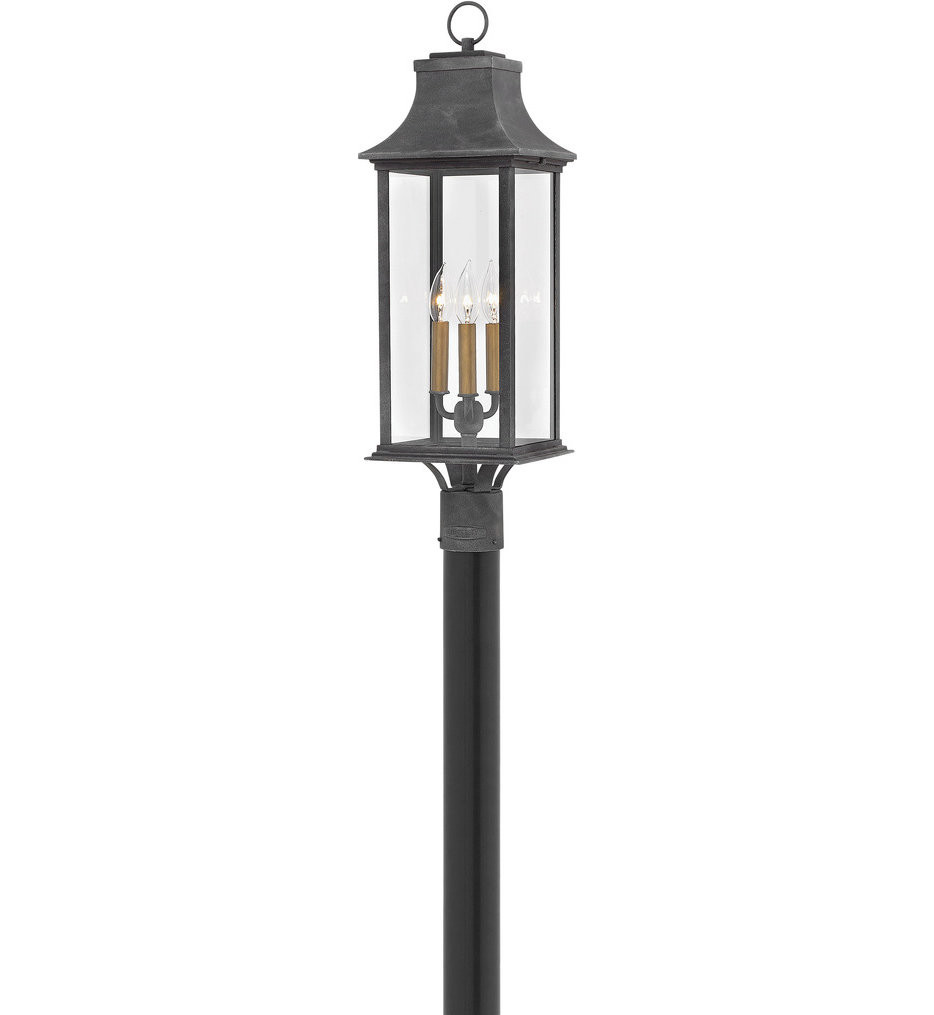 Hinkley Lighting - 2931DZ - Adair Aged Zinc Outdoor Post Mount
