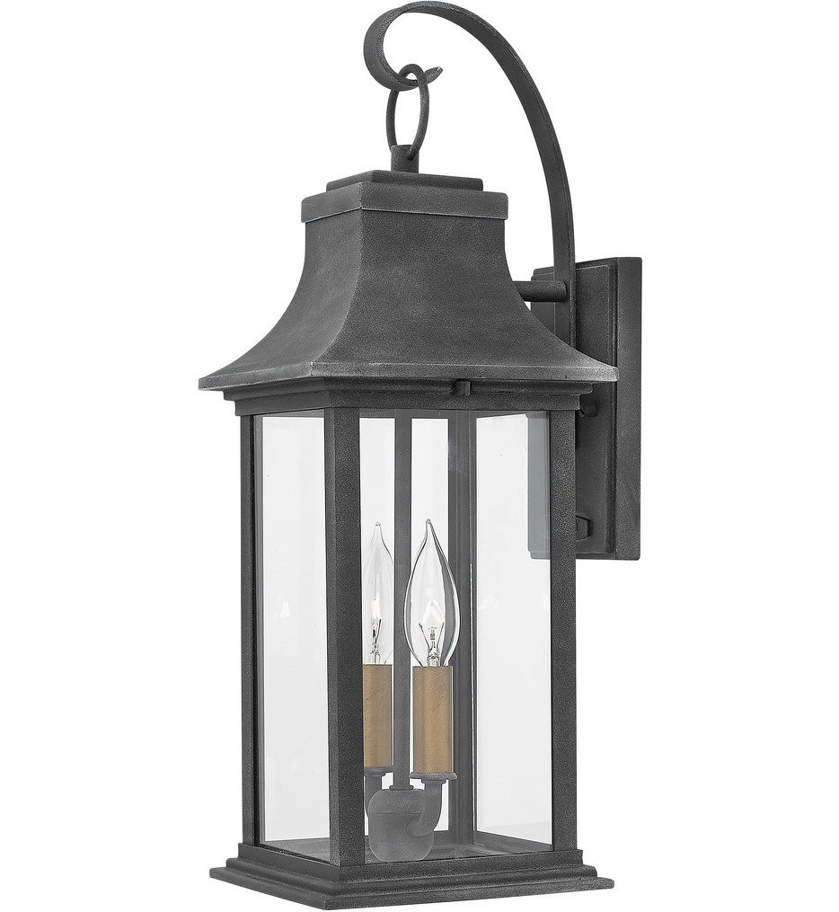 Hinkley Lighting - 2934DZ - Adair Aged Zinc 20 Inch Outdoor Wall Sconce