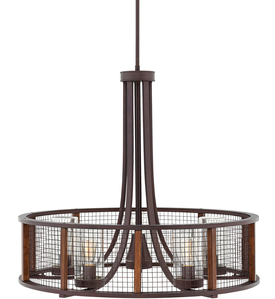 Hinkley Lighting - 29616IR - Beckett Iron Rust Outdoor Chandelier