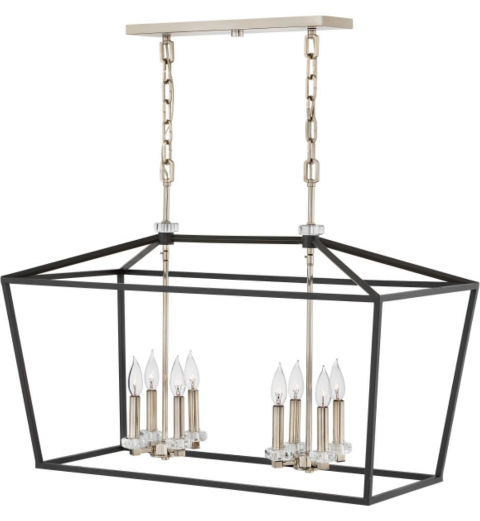Hinkley Lighting - 3534BK - Stinson Black 34 Inch Linear Chandelier