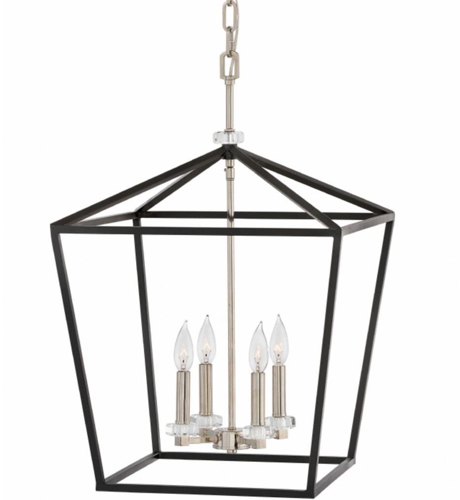 Hinkley Lighting - 3536BK - Stinson Black 18 Inch Chandelier