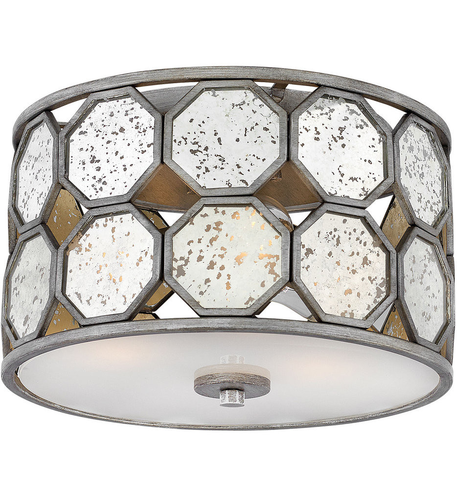 Hinkley Lighting - 3563BV - Lara Brushed Silver Flush Mount