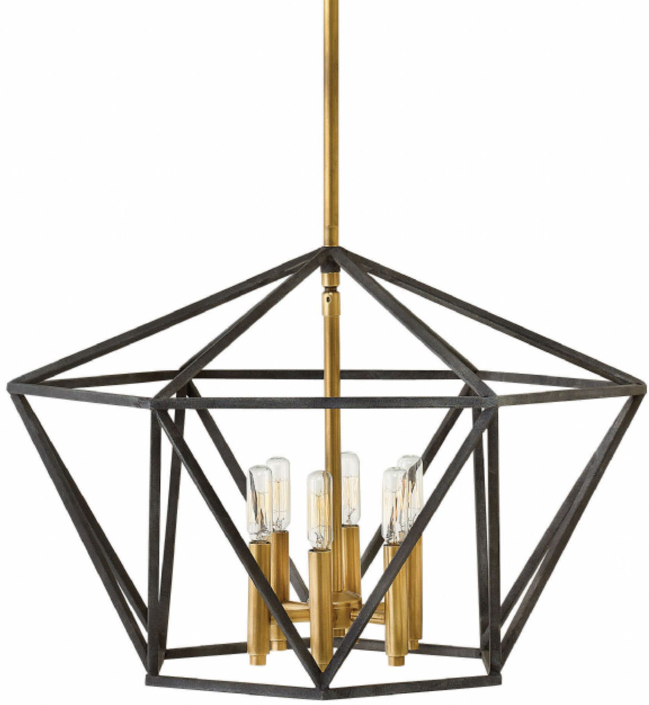 Hinkley Lighting - 3576DZ - Theory Aged Zinc Chandelier