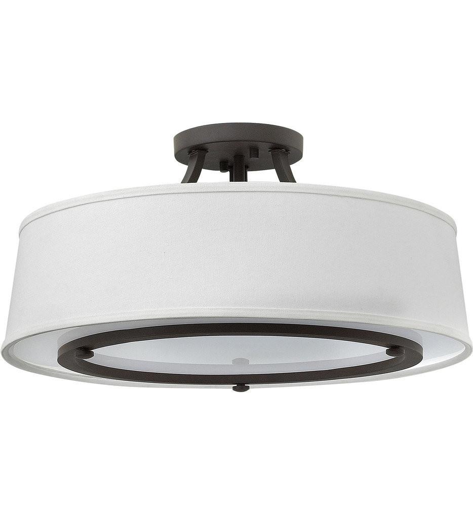 Hinkley Lighting - 3703KZ - Harrison Buckeye Bronze Semi-Flush Mount