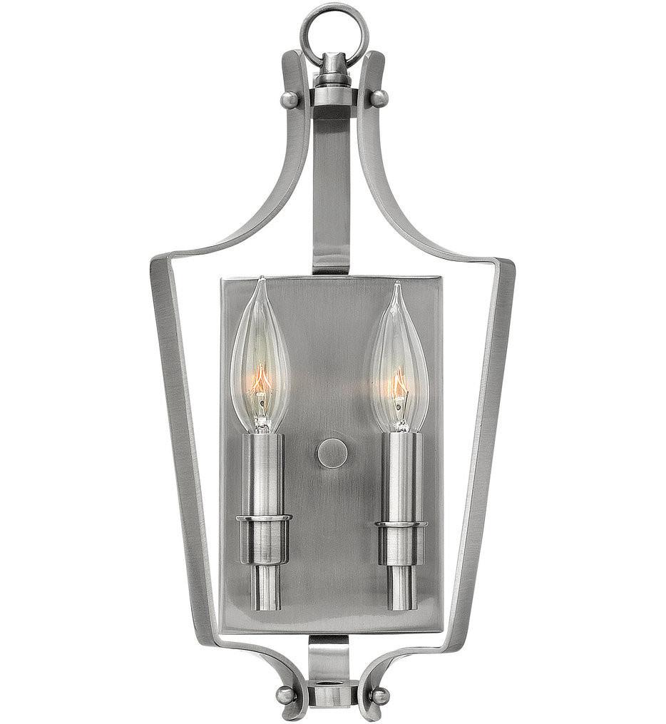 Hinkley Lighting - 4492PL - Fleming Polished Antique Nickel Wall Sconce