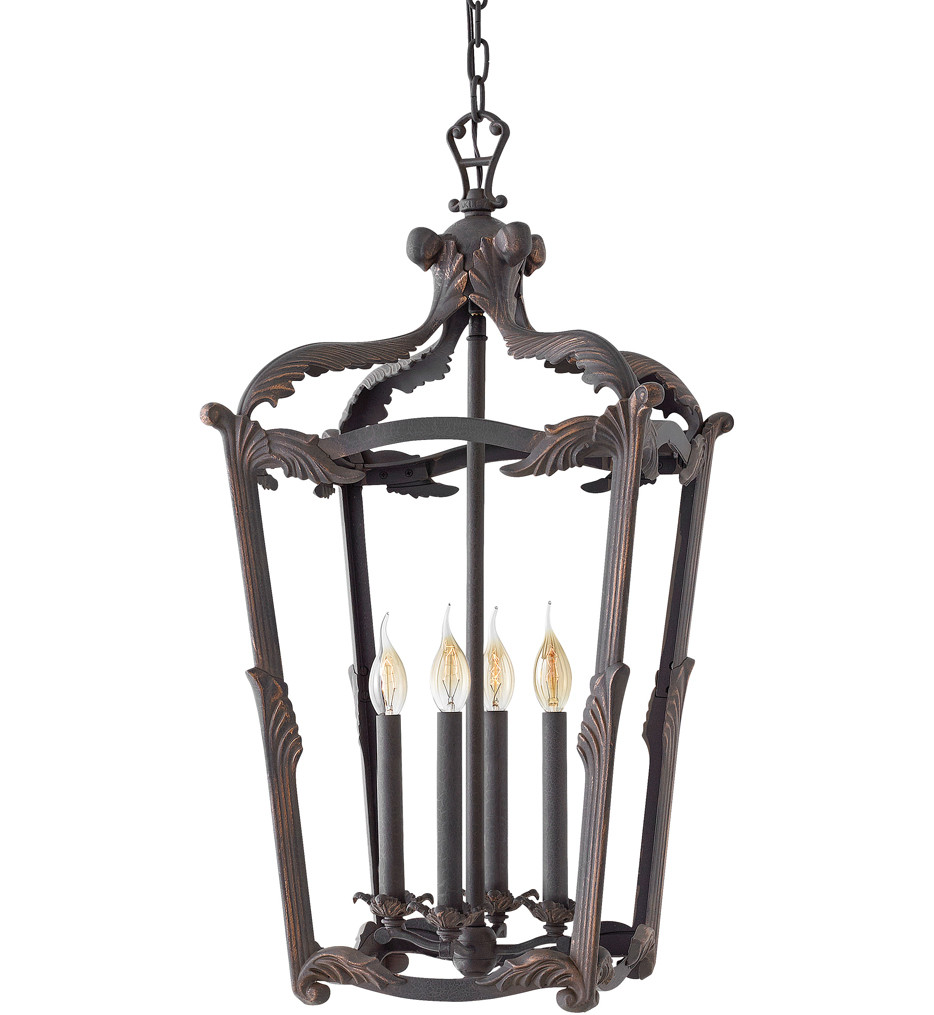 Hinkley Lighting - 4528AI - Sorrento Aged Iron 16 Inch Chandelier