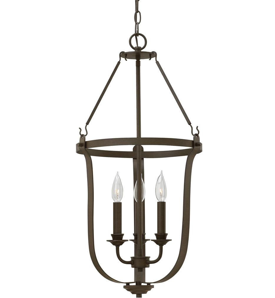 Hinkley Lighting - 4943TZ - Fenmore Textured Bronze 14.5 Inch Chandelier