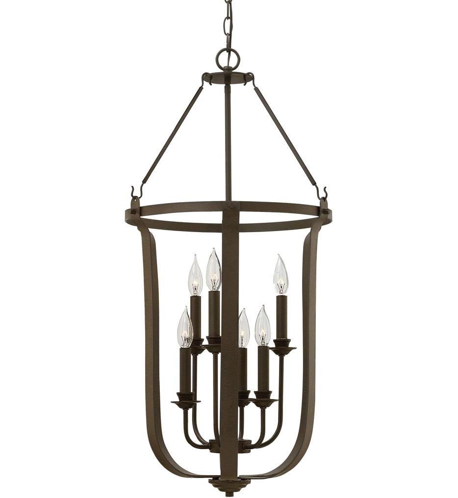 Hinkley Lighting - 4946TZ - Fenmore Textured Bronze 17 Inch Chandelier