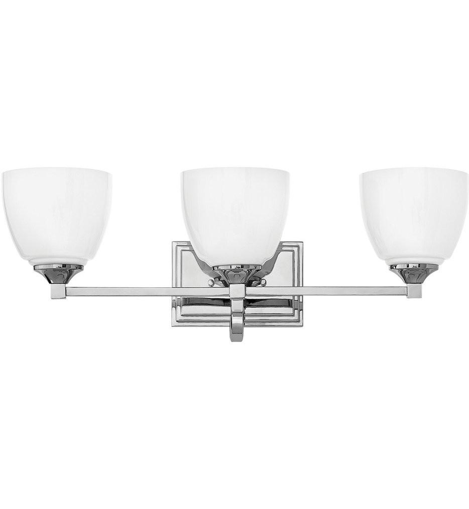 Hinkley Lighting - 5603CM - Faye Chrome 3 Light Bath Vanity Light