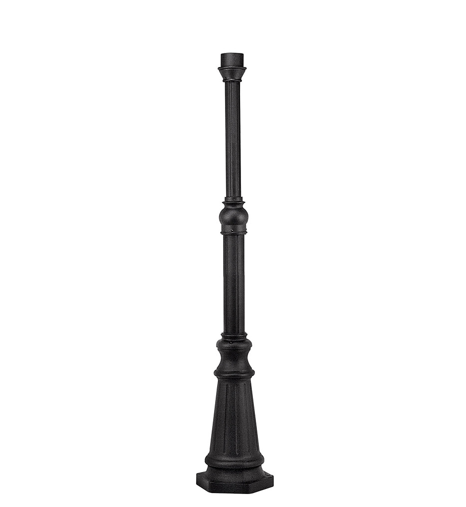 Hinkley Lighting - 6638BK - Surface Mount Black 6.5 Foot Post