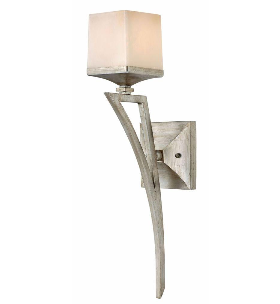 Hinkley Lighting - FR49190SLF - San Simeon Silver Leaf 1 Light Wall Sconce