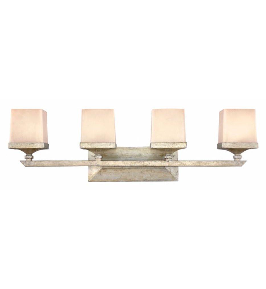 Hinkley Lighting - FR59194SLF - San Simeon Silver Leaf 4 Light Bath Vanity Light