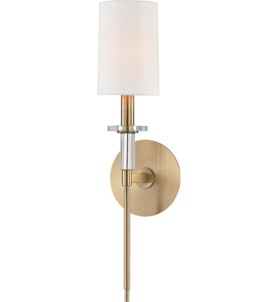 Hudson Valley - 8511-AGB - Amherst Aged Brass 1 Light Wall Sconce