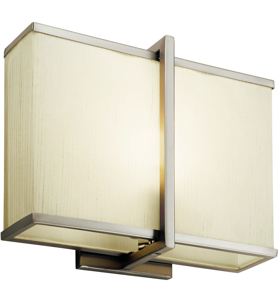 Kichler - 10421SN - Rigel Satin Nickel 12 Inch 1 Light Wall Sconce