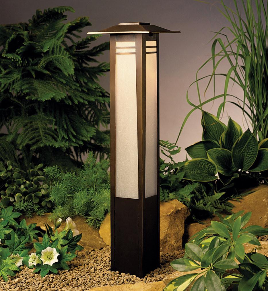 Kichler - 15392OZ - Zen Garden Olde Bronze 26 Inch Bollard Path Light