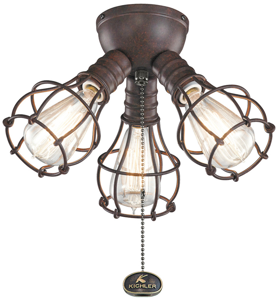 Kichler - Industrial 3 Light Fan Light Kit