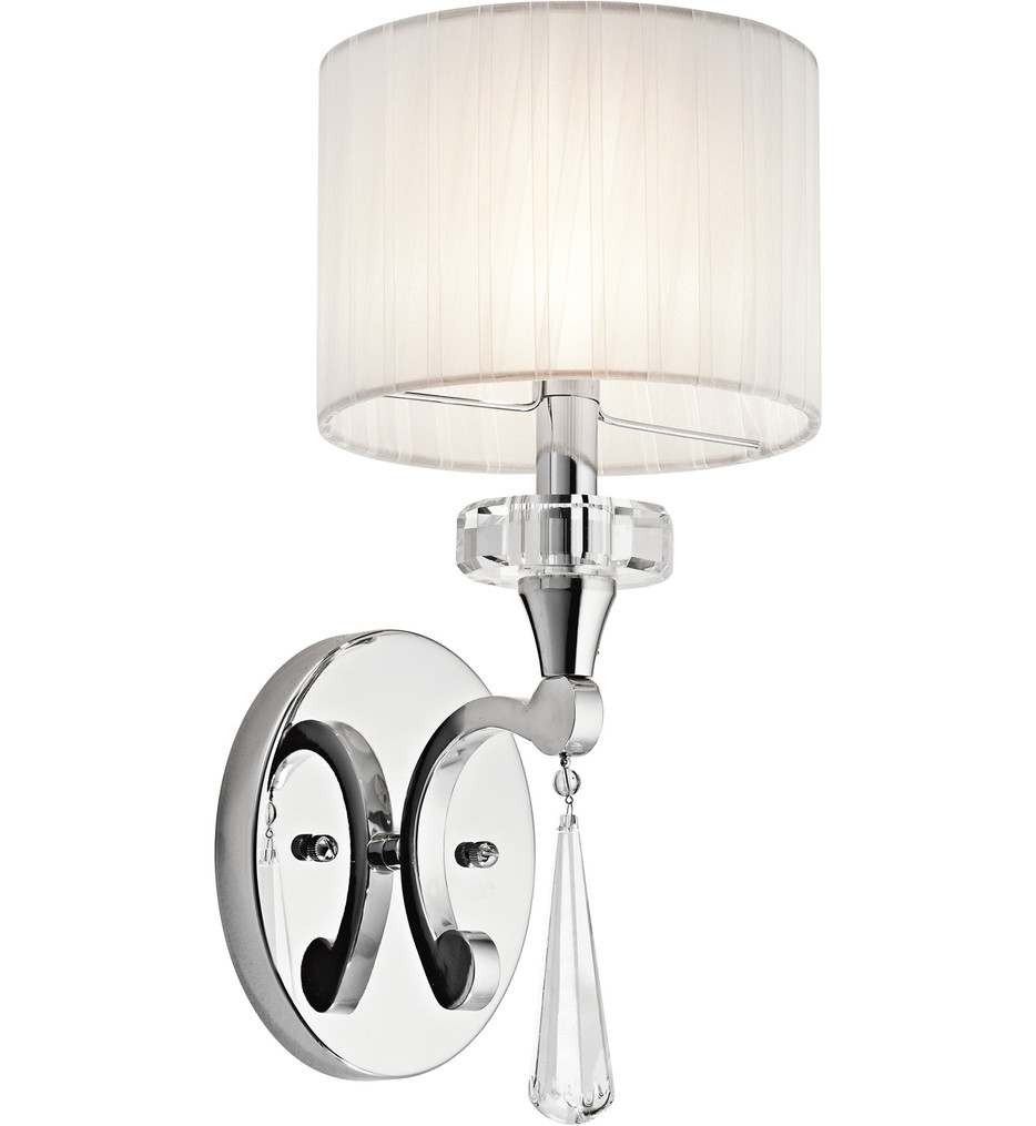 Kichler - 42634CH - Parker Point Chrome 6.75 Inch 1 Light Wall Sconce