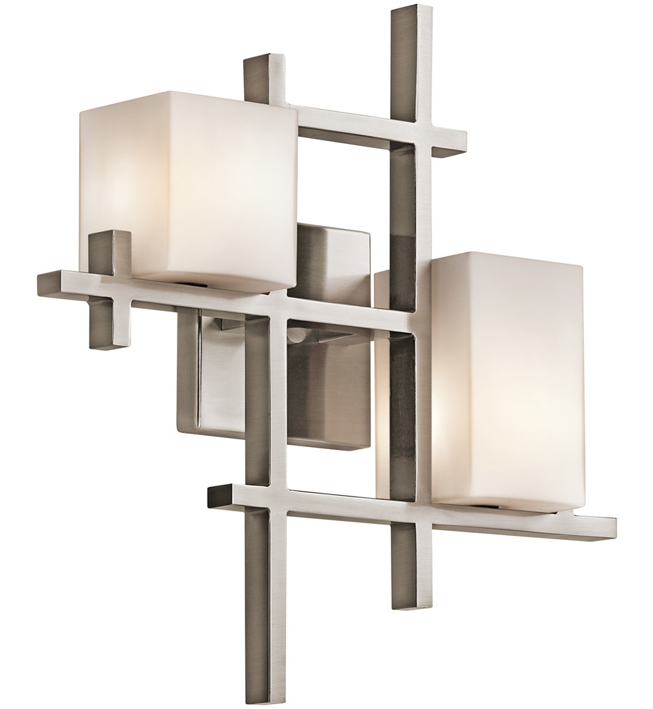 Kichler - 42942CLP - City Lights Classic Pewter 15.5 Inch 2 Light Wall Sconce