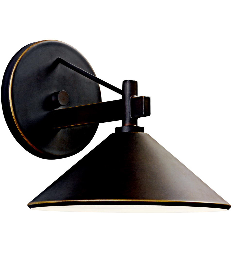 Kichler - 49059OZ - Ripley Olde Bronze 8 Inch 1 Light Outdoor Wall Sconce