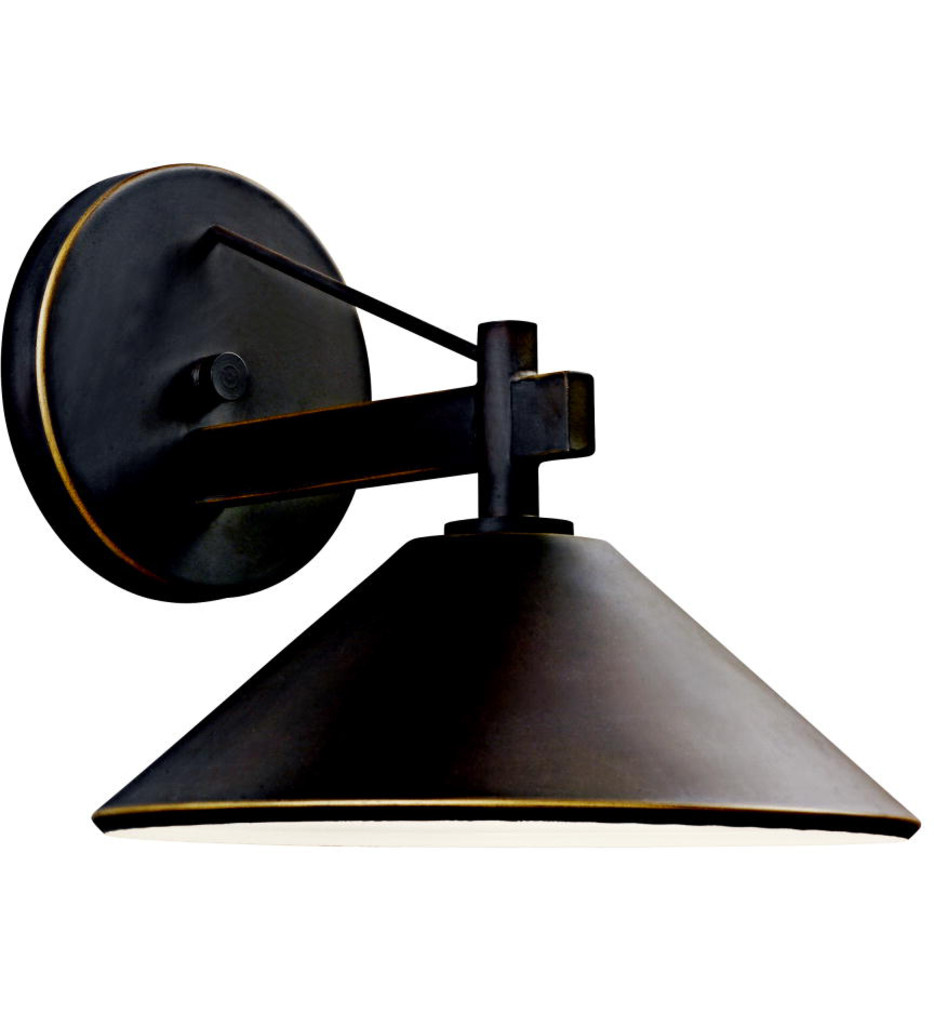 Kichler - 49060OZ - Ripley Olde Bronze 10 Inch 1 Light Outdoor Wall Sconce