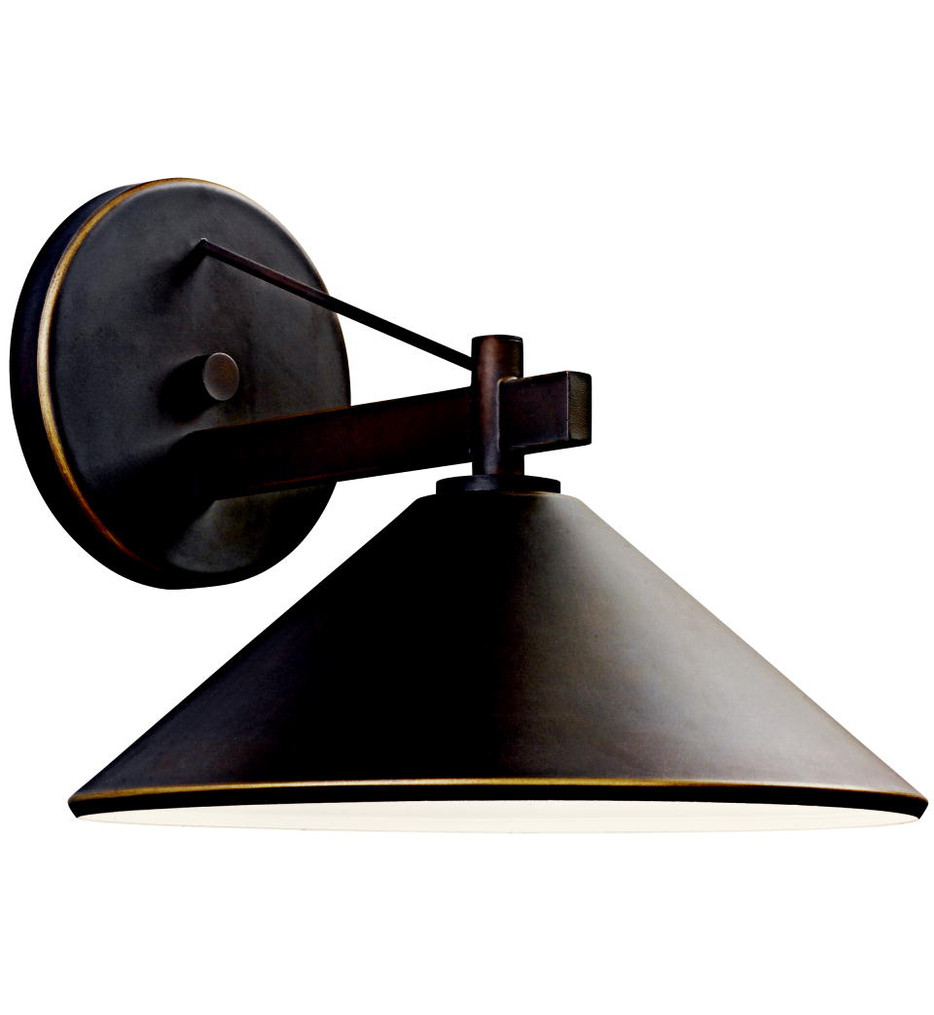 Kichler - 49061OZ - Ripley Olde Bronze 12 Inch 1 Light Outdoor Wall Sconce