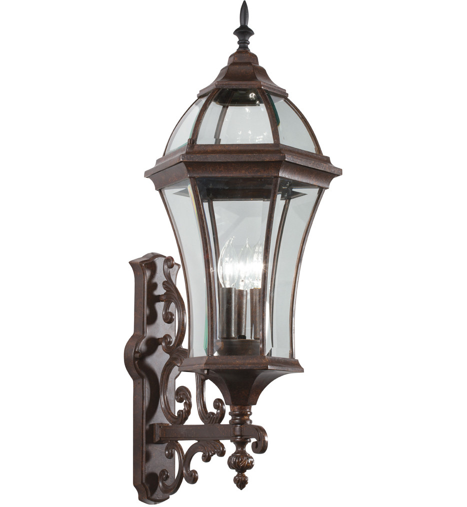 Kichler - Townhouse 31 Inch 3 Light Outdoor Wall Sconce