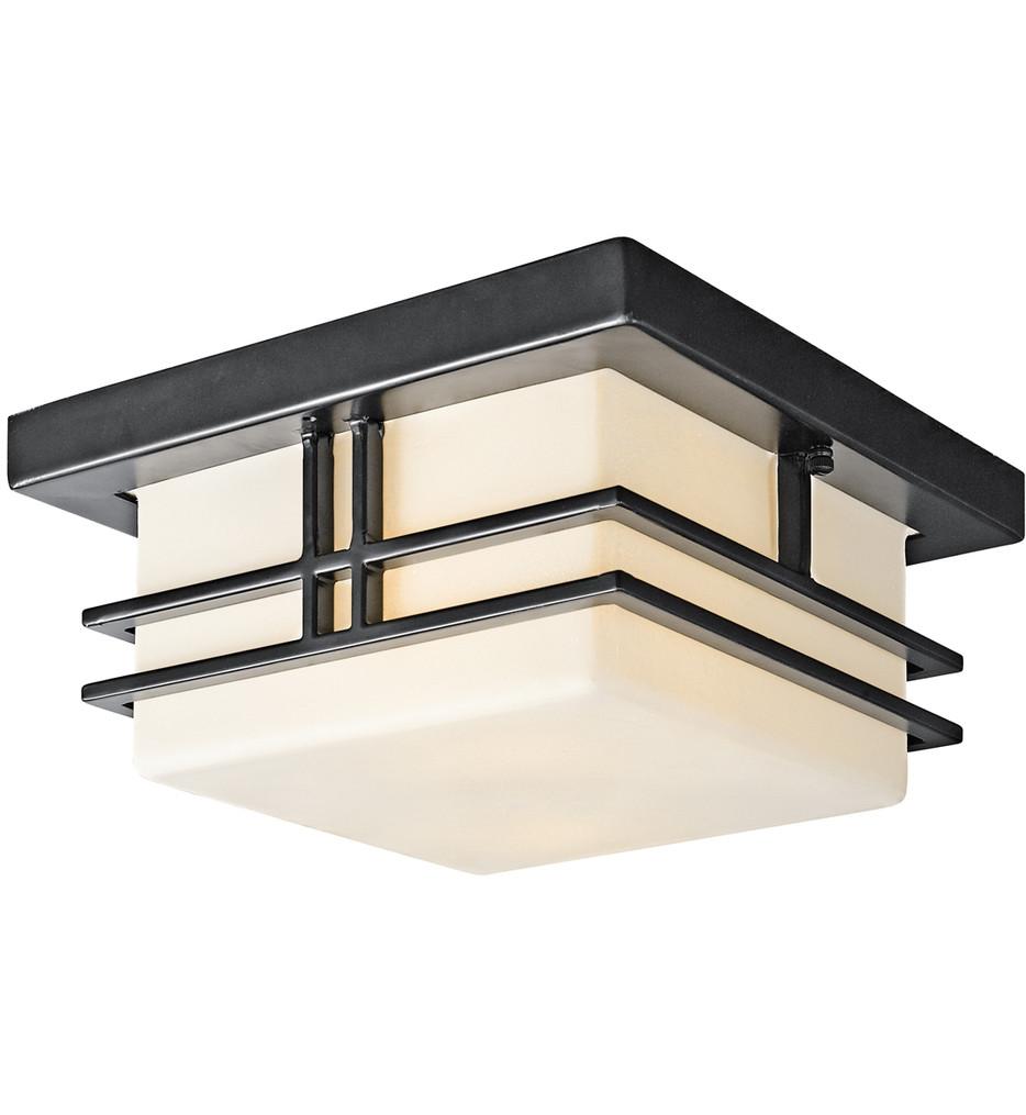 Kichler - Tremillo Black 6.5 Inch 2 Light Outdoor Flush Mount
