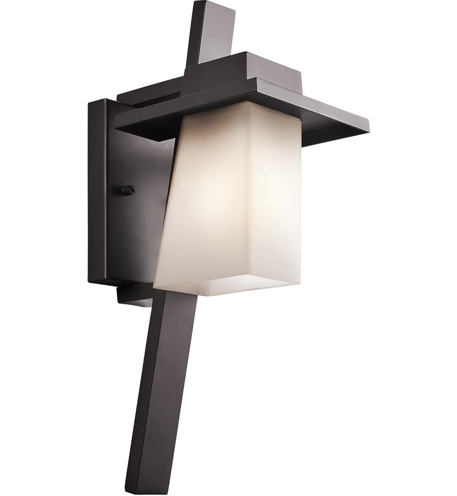 Kichler - 49257AZ - Stonebrook Architectural Bronze 6.5 Inch 1 Light Outdoor Wall Sconce