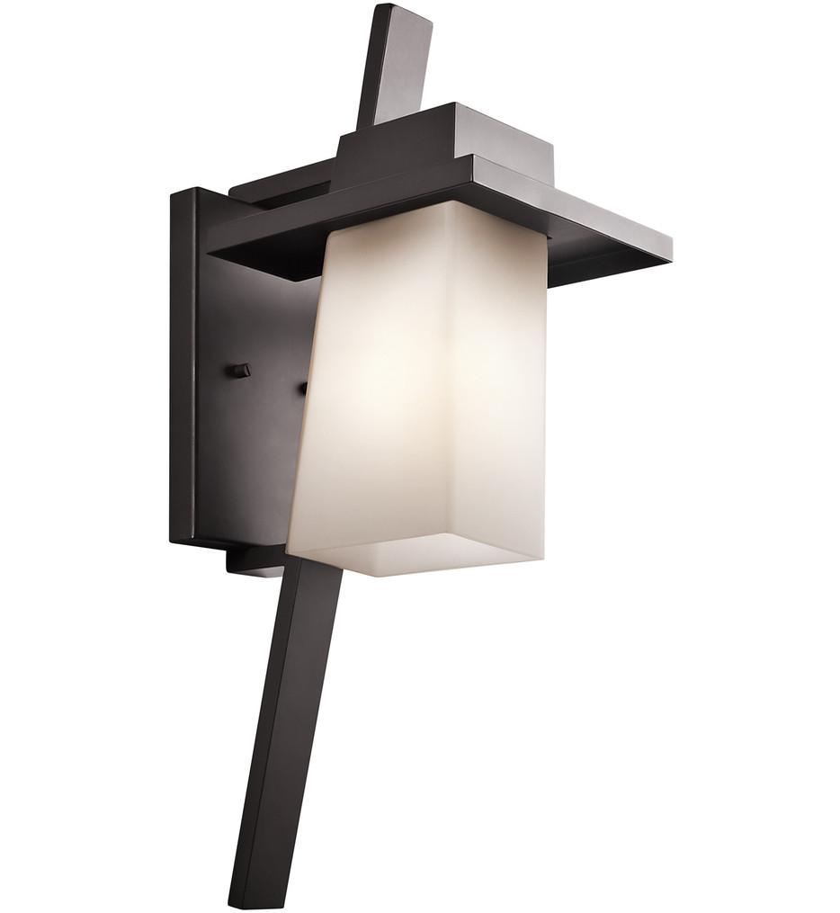 Kichler - 49258AZ - Stonebrook Architectural Bronze 8.5 Inch 1 Light Outdoor Wall Sconce