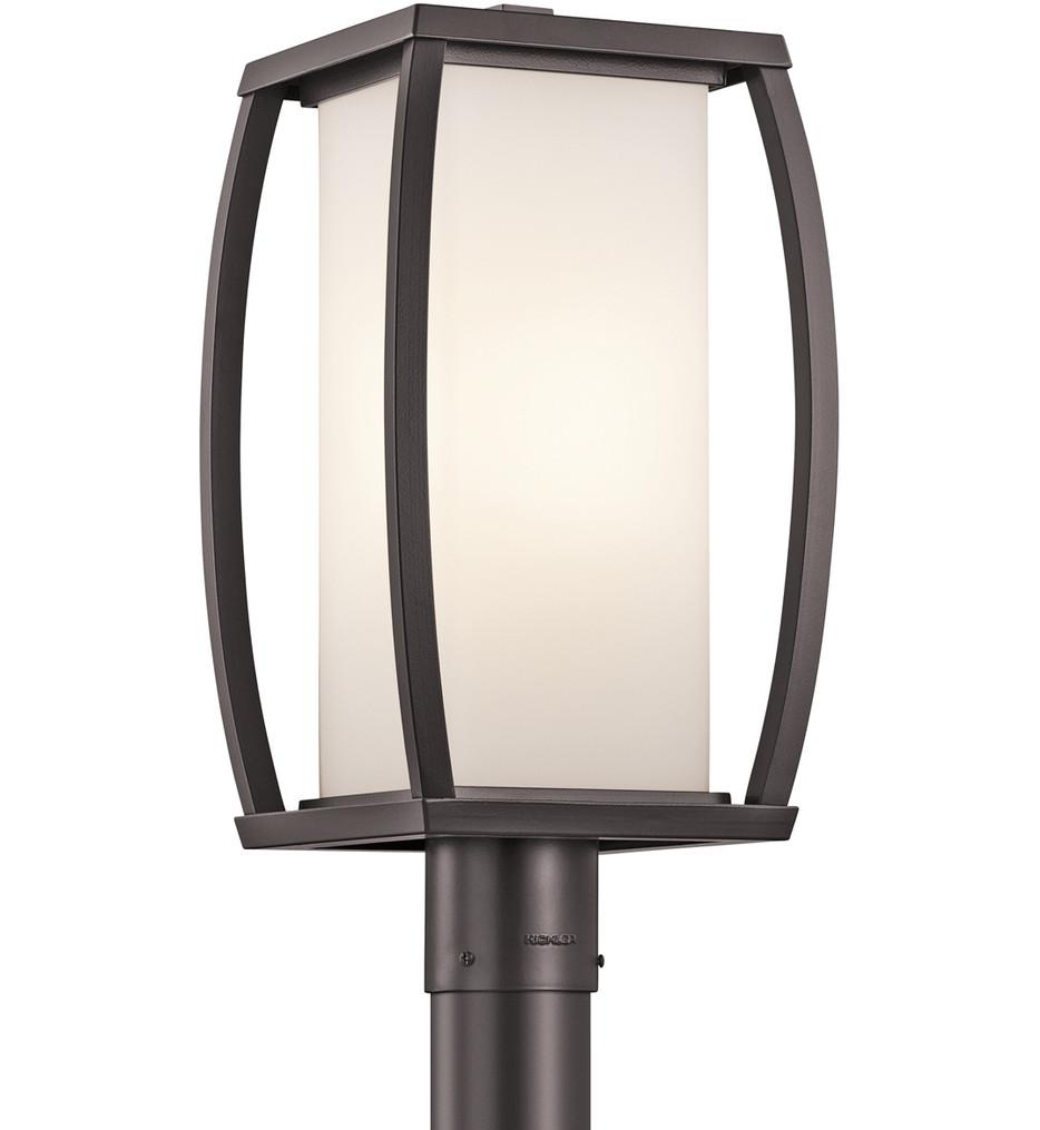 Kichler - 49342AZ - Bowen Architectural Bronze 9 Inch 1 Light Outdoor Post Lantern
