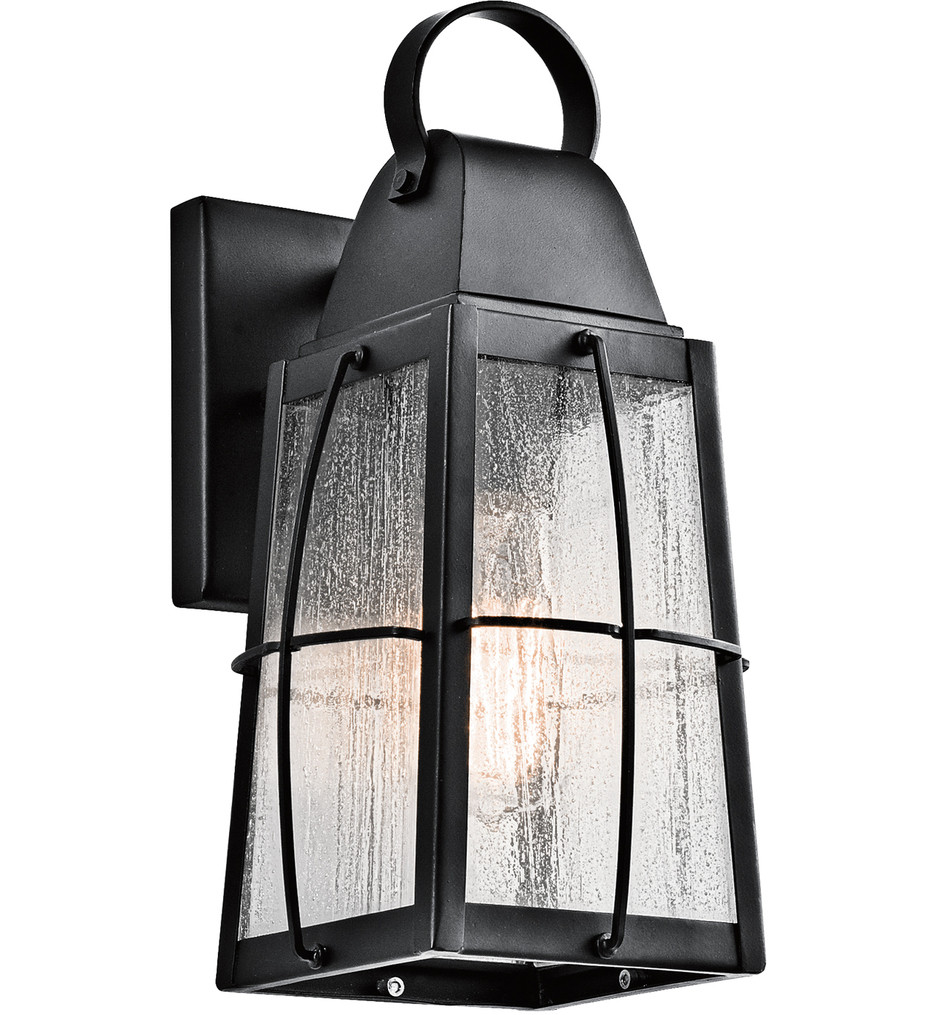 Kichler - 49552BKT - Tolerand Textured Black 5.75 Inch 1 Light Outdoor Wall Sconce