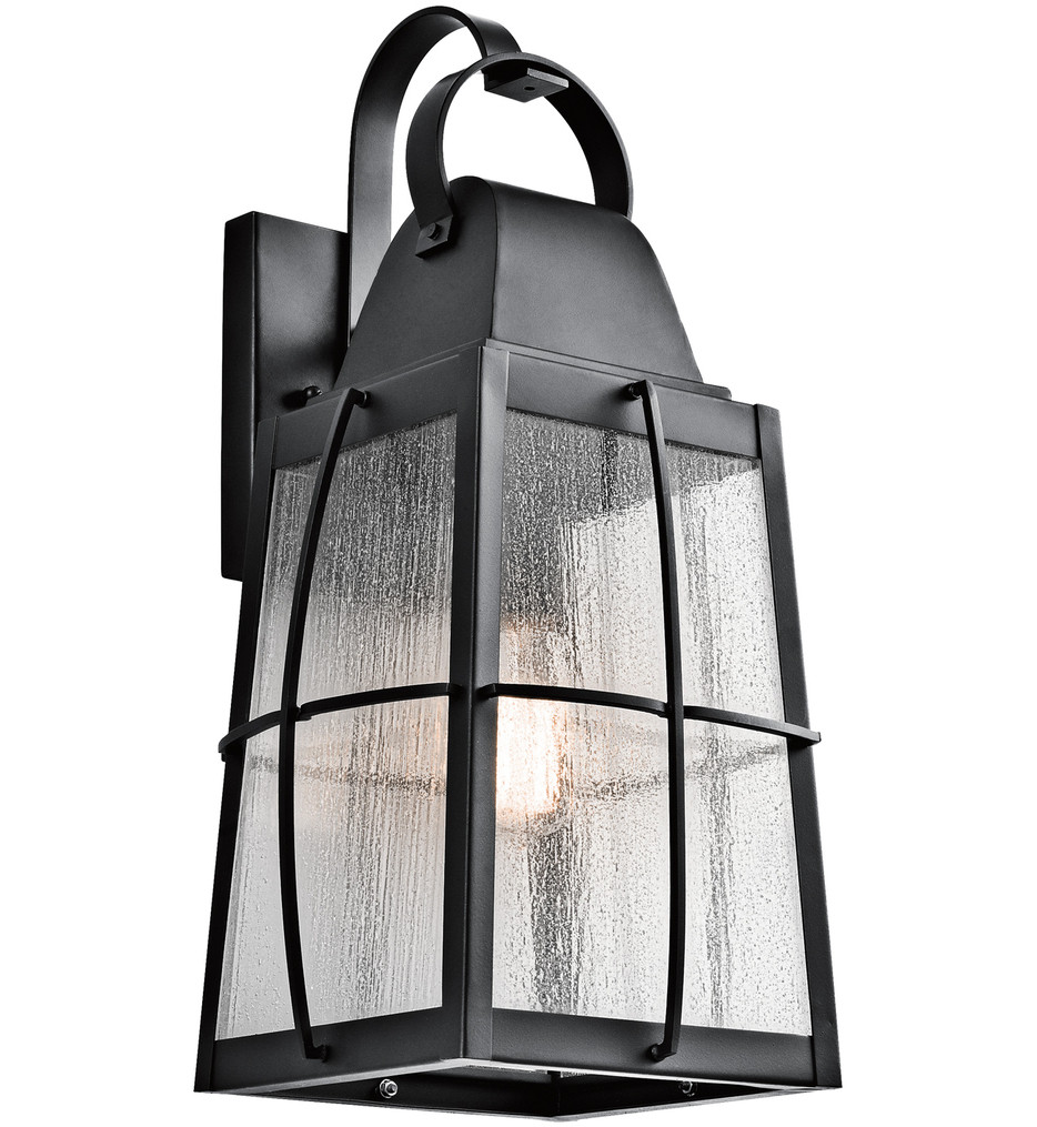Kichler - 49554BKT - Tolerand Textured Black 9.5 Inch 1 Light Outdoor Wall Sconce