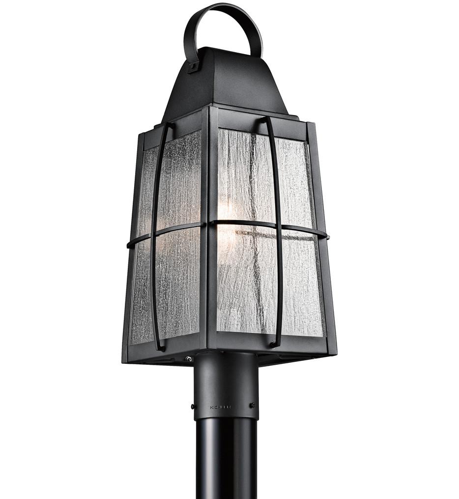 Kichler - 49555BKT - Tolerand Textured Black 9.5 Inch 1 Light Outdoor Post Lantern