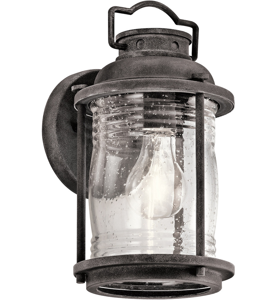 Kichler - 49569WZC - Ashland Bay Weathered Zinc 6 Inch 1 Light Outdoor Wall Sconce