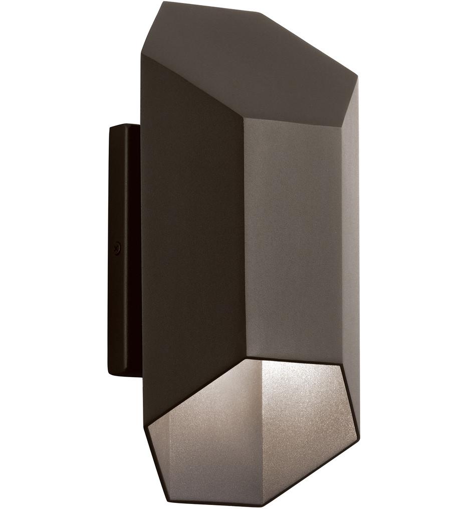 Kichler - 49608AZTLED - Estella Textured Architectural Bronze 6 Inch 2 Light Outdoor Wall Sconce