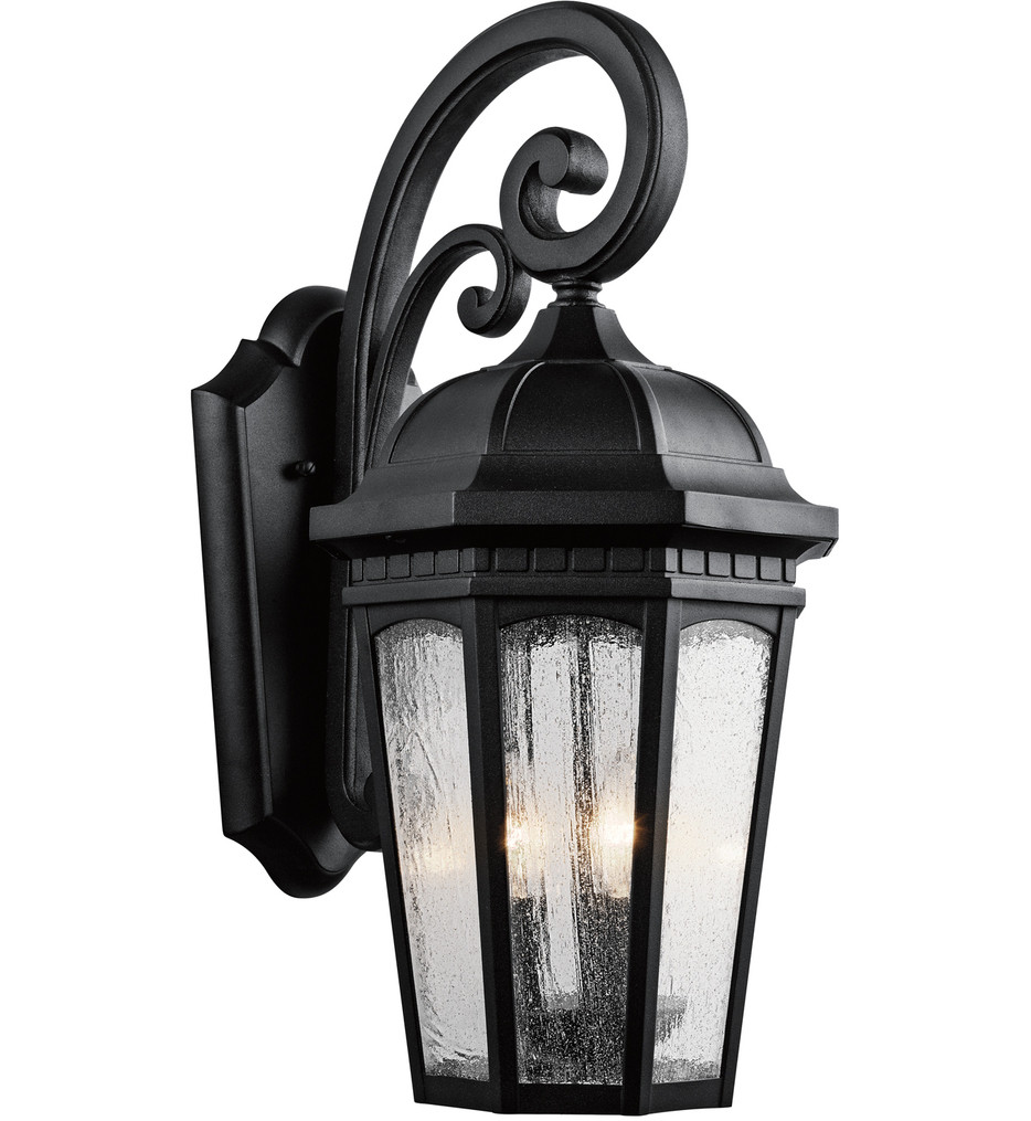 Kichler - Courtyard 22.25 Inch 3 Light Outdoor Wall Sconce