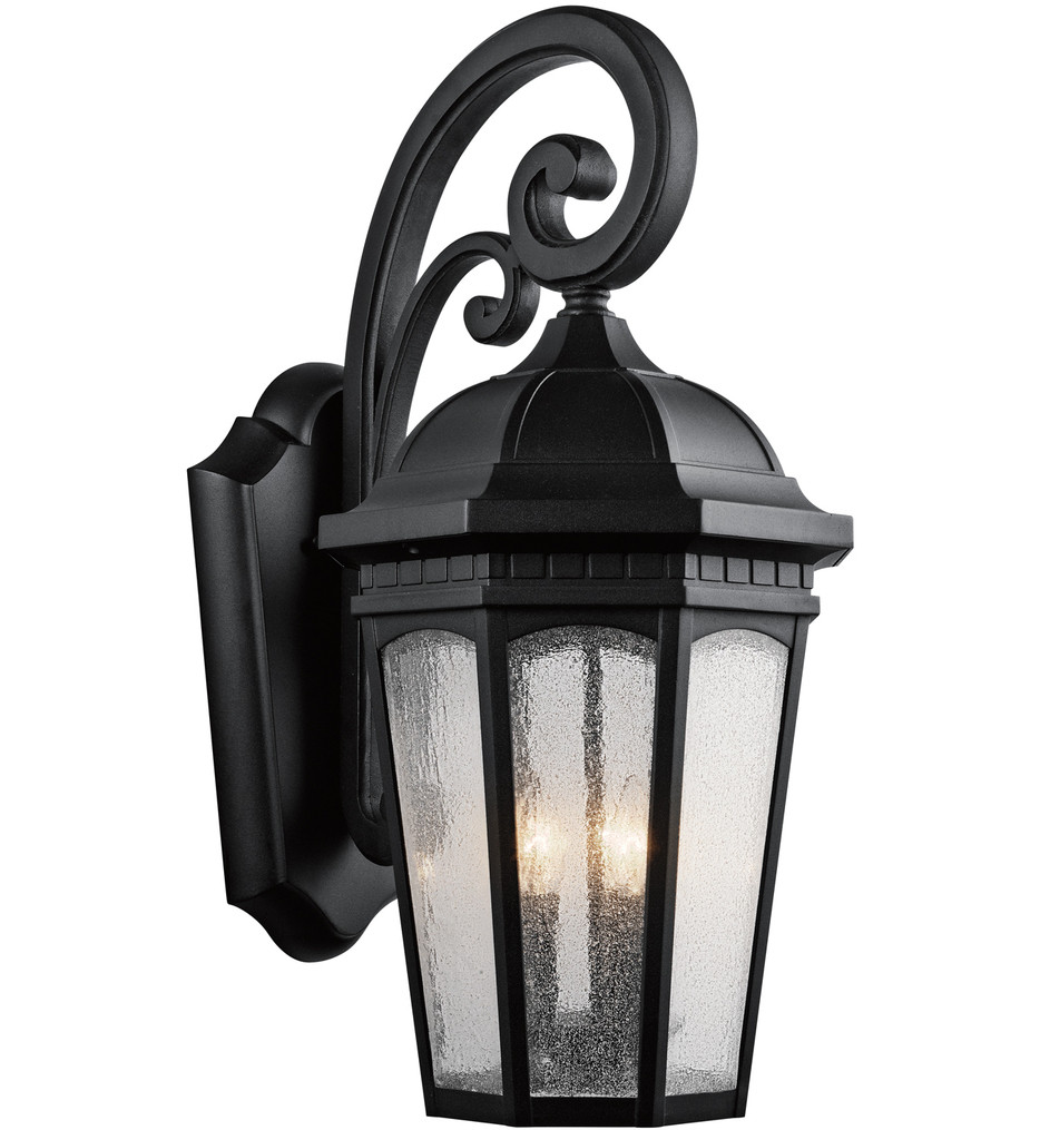 Kichler - Courtyard 26.5 Inch 3 Light Outdoor Wall Sconce