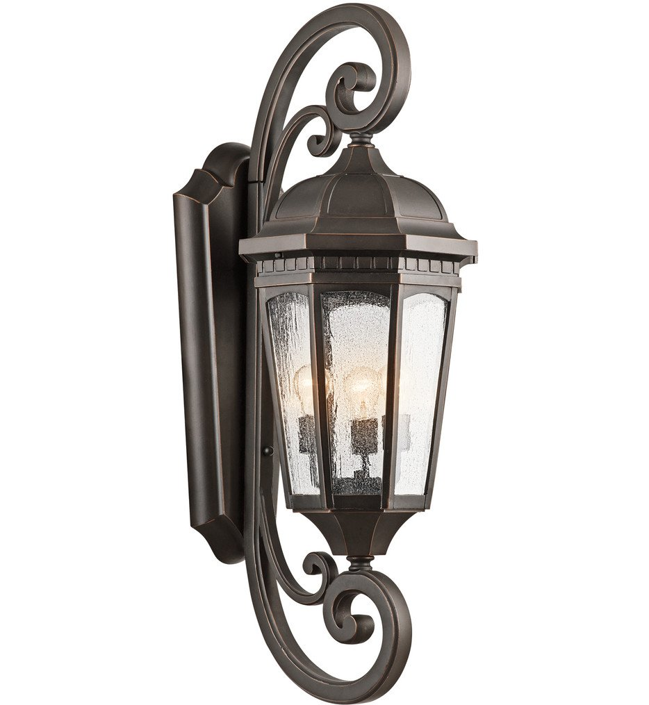 Kichler - Courtyard 3 Light Outdoor Wall Sconce